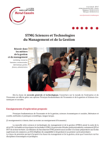 STMG Sciences et Technologies du Management et de la Gestion