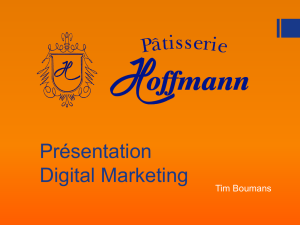 Présentation Digital Marketing