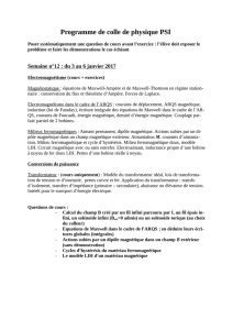 Programme de colle de physique PSI
