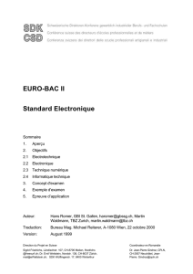 EURO-BAC II Standard Electronique