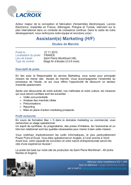 Assistant(e) Marketing (H/F)