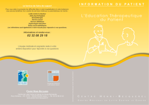 L`Education Thérapeutique du Patient