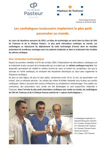 Les cardiologues toulousains implantent le plus