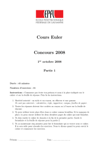 Cours Euler Concours 2008
