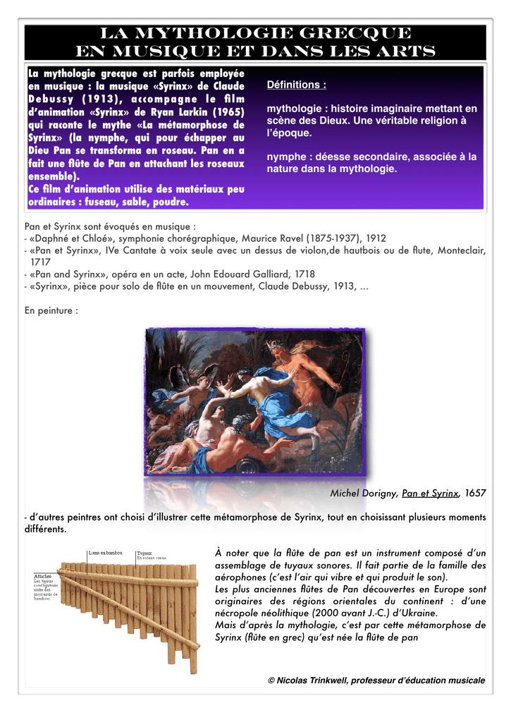 Mythologie Grecque 6è