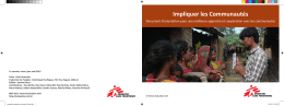 Impliquer les Communautés - MSF Intersectional Evaluation Group