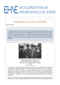 Collaborations en Europe (1939