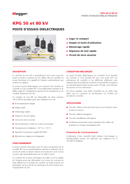 KPG 50 et 80 kV - STATES Products
