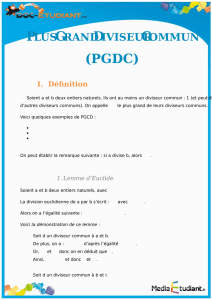 PLUS GRAND DIVISEUR COMMUN (PGDC)