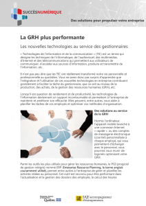 La GRH plus performante