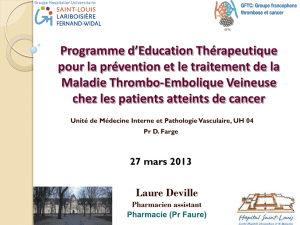 ETP final LDDFHP - Groupe Francophone thrombose et cancer