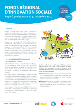 fonds régional d`innovation sociale