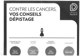CANCER DU COL CANCER CANCER DE 1:UTÉRUS DU SEIN