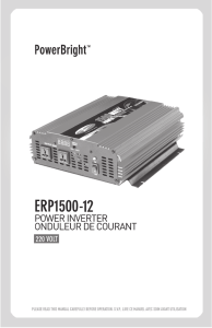 ERP1500 - 1500 watt 220 volt Power Inverter