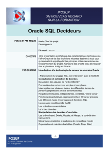 Oracle SQL Decideurs