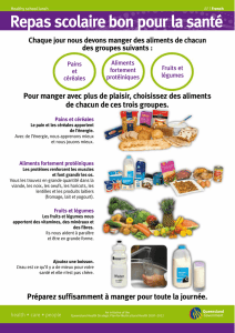 Healthy School Lunches (African) - French