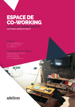 espace de co-working