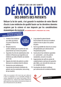 DEs DrOITs DEs paTIENTs