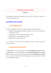 Physiologie cardio-vasculaire Chapitre 2
