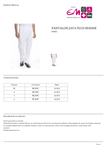 pantalon java homme