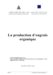 La production d`engrais organique