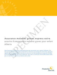 Assurance maladies graves express extra