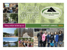 Rapport annuel 2015 - Nature