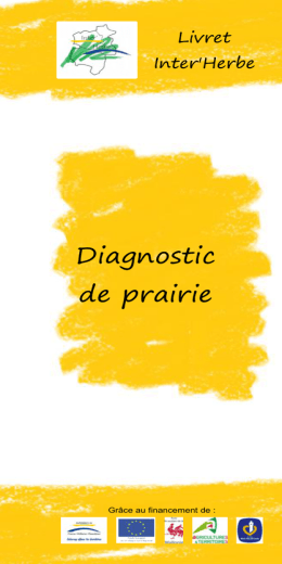 Diagnostic de prairie - Fourrages