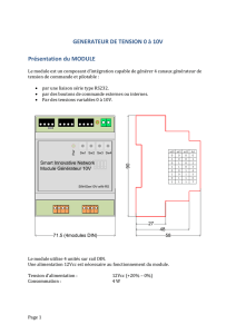 GENERATEUR DE TENSION 0 à 10V Présentation du MODULE
