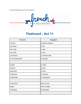 Flashcard - News in Slow French
