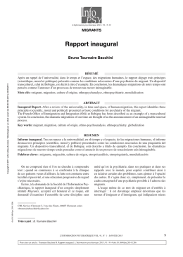 Rapport inaugural - John Libbey Eurotext