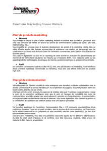 Fonctions Marketing Inmac Wstore Chef de produits