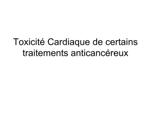 prise en charge du patient en oncologie role du cardiologue