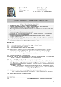 juriste / anthropologue du droit / consultante