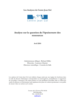 Analyse sur la question de l`épuisement des