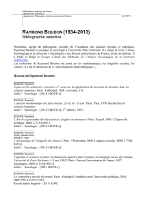 raymond boudon (1934-2013) - Bibliothèque nationale de France