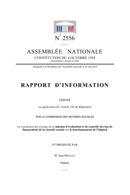rapport - Assemblée nationale
