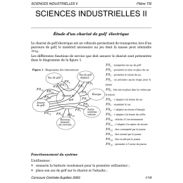 Sciences industrielles 2 - Centrale