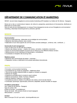 département de communication et marketing