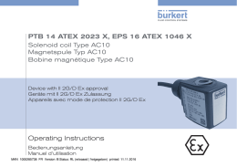 Operating Instructions PTB 14 ATEX 2023 X, EPS 16 ATEX