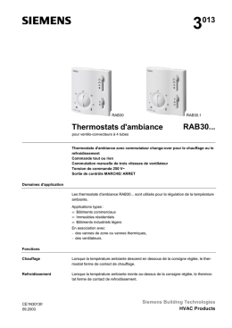 3013 Thermostats d`ambiance RAB30