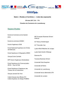 Liste des exposants – SEC 2017