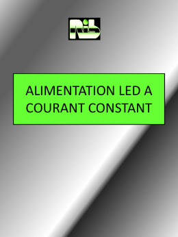 convertisseur led courant constant