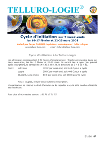 TELLURO-LOGIE ® Cycle d`initiation sur 2 week-ends