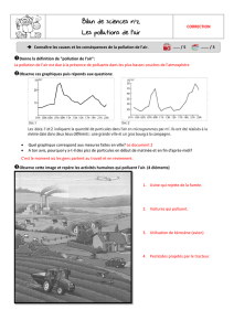 Bilan de sciences n°2 Les pollutions de l`air