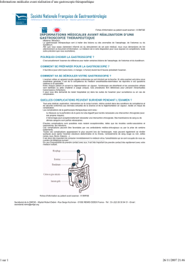 Information avant fibroscopie interventionnelle