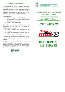 la prevention du sida