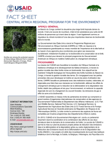 central africa regional program for the environment