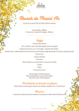 ILOHA-Menu BRUNCH Nouvel an 2015