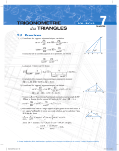 trigonométrie des triangleS